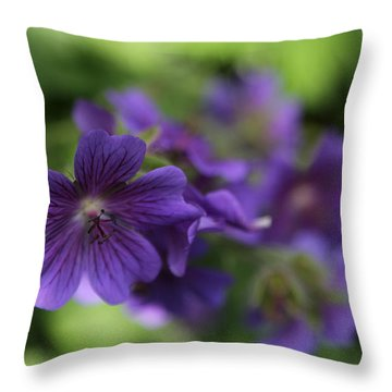 Throw Pillow featuring the photograph garden Flowers June 15 2015 by Jim Vance