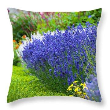 Garden Flowers Throw Pillow by Svetlana Sewell