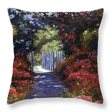 Garden For Dreamers Throw Pillow