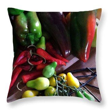 Garden Fresh Produce Throw Pillow