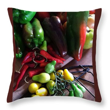 Garden Fresh Produce Throw Pillow