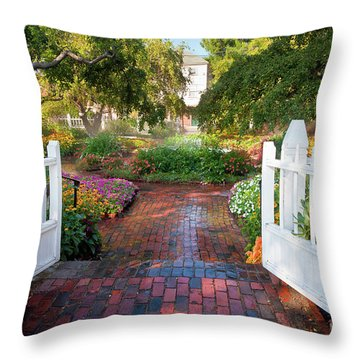 Throw Pillow featuring the photograph Garden Gate by Susan Cole Kelly