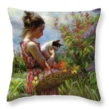 Garden Gatherings Throw Pillow