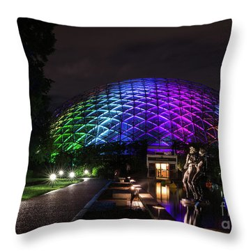 Throw Pillow featuring the photograph Garden Globe At Night by Andrea Silies