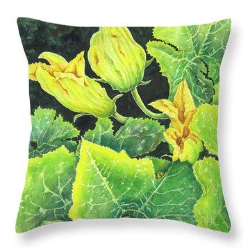Garden Glow Throw Pillow