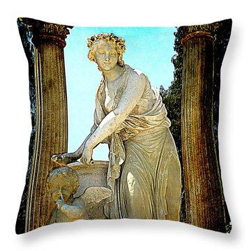 Throw Pillow featuring the photograph Garden Goddess by Lori Seaman