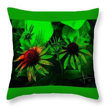 Throw Pillow featuring the photograph Garden Green by Jim Vance