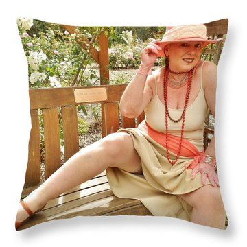 Garden Gypsy Throw Pillow by VLee Watson