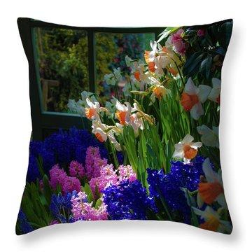 Garden House Delight Throw Pillow