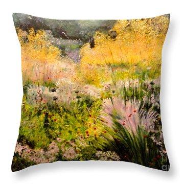 Garden In Northern Light Throw Pillow