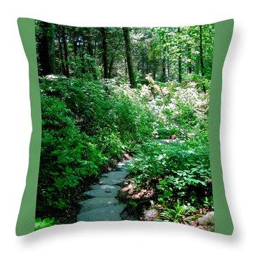 Garden In The Woods Throw Pillow by Deborah Dendler