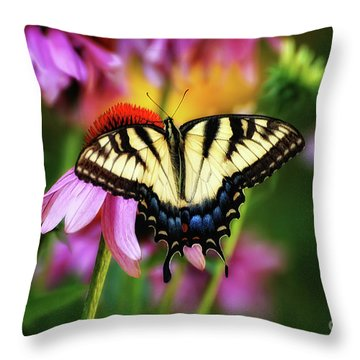 Garden Jewelry Throw Pillow by Lois Bryan