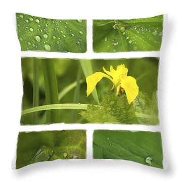 Garden Jewels II Throw Pillow