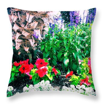 Garden Landscape 2 Version 1 Throw Pillow