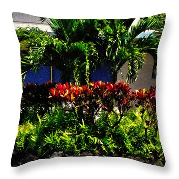 Garden Landscape 4 In Abstract Throw Pillow