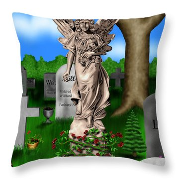 Garden Landscape IIi B - Where The Dead Sleep Throw Pillow