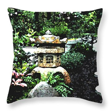 Garden Lantern Throw Pillow