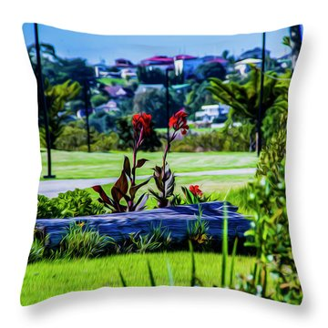 Garden Log Throw Pillow