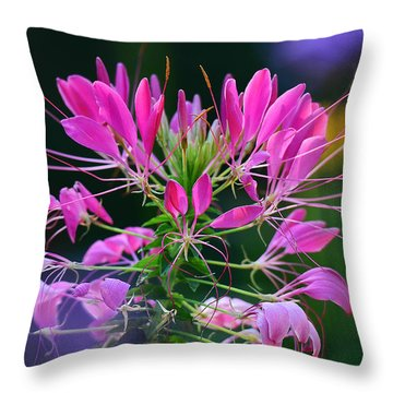 Throw Pillow featuring the photograph Garden Magic by Rodney Campbell