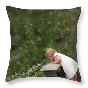 Garden Mischief Throw Pillow