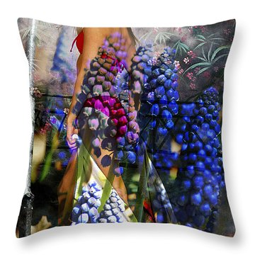Garden Nymph Throw Pillow