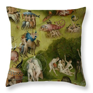 Garden Of Earthly Delights   Detail Throw Pillow