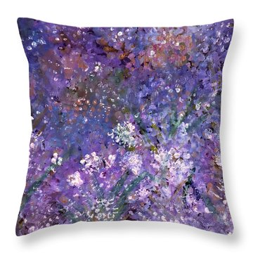 Garden Of Eden Painting Throw Pillow by Don  Wright