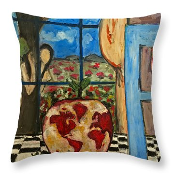 Garden Of Eve Throw Pillow