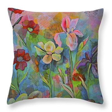 Garden Of Intention - Triptych Center Panel Throw Pillow