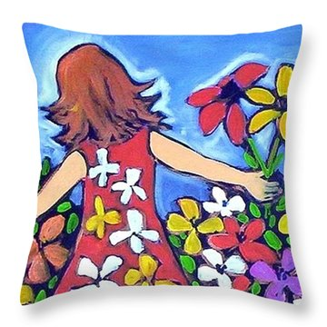 Garden Of Joy Throw Pillow