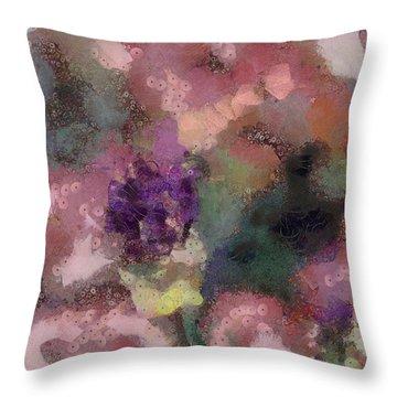 Garden Of Love Throw Pillow by Trish Tritz