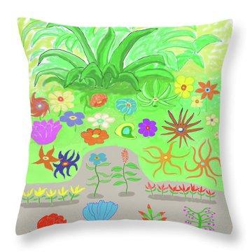 Garden Of Memories Throw Pillow by Fred Jinkins