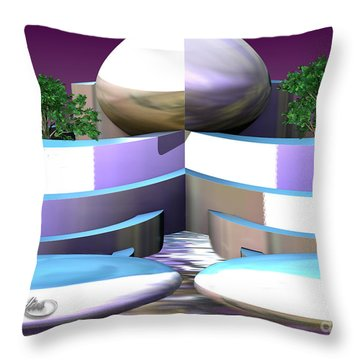 Garden Of Nemesis Cloud Throw Pillow