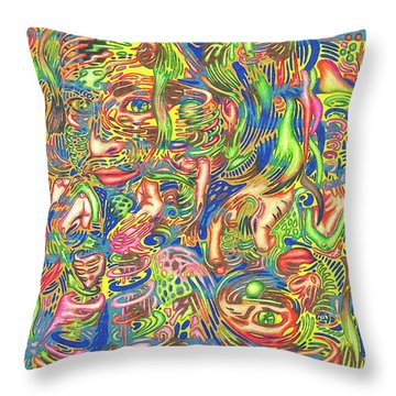 Garden Of Reflections Throw Pillow