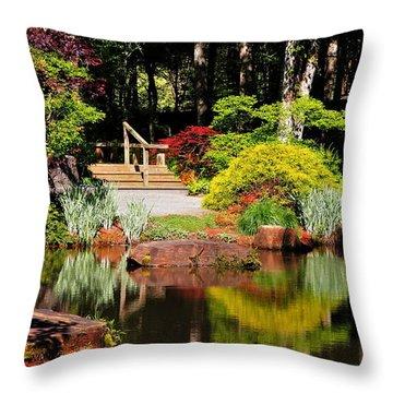Garden Of Solitude Throw Pillow