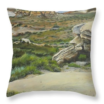 Garden Of Stone Throw Pillow