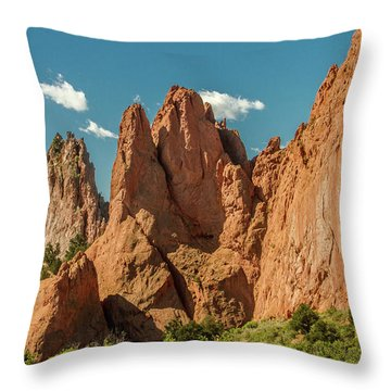 Throw Pillow featuring the photograph Garden Of The Gods by Bill Gallagher