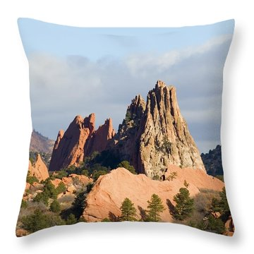 Garden Of The Gods Colorado Springs Throw Pillow