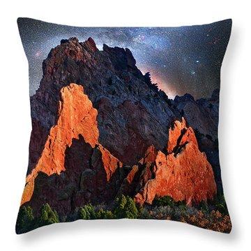 Garden Of The Gods Fantasy Art Throw Pillow