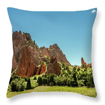 Throw Pillow featuring the photograph Garden Of The Gods II by Bill Gallagher