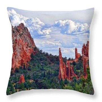 Garden Of The Gods Throw Pillow by Vickie Bushnell