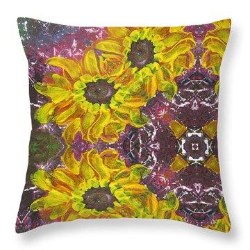 Garden Owls Throw Pillow by Maria Watt