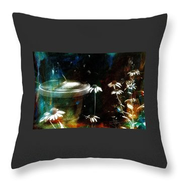 Throw Pillow featuring the photograph Garden Party by Jim Vance