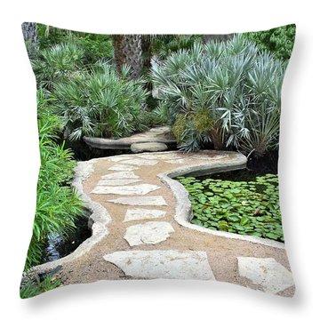Throw Pillow featuring the photograph Garden Path  by James Fannin