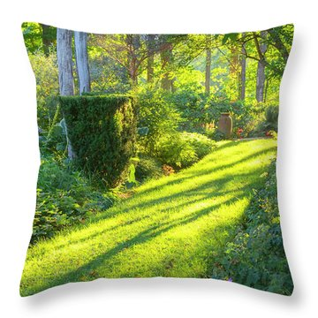 Garden Path Throw Pillow