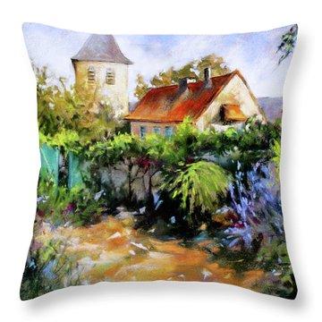 Garden Pleasures Throw Pillow by Rae Andrews