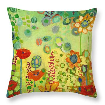 Garden Poetry Throw Pillow