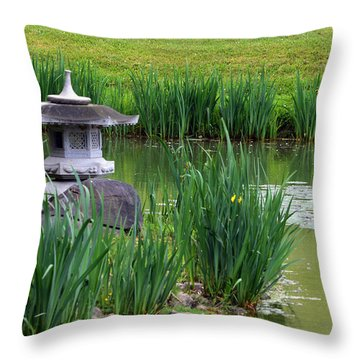 Garden Pond Throw Pillow by Kathleen Stephens