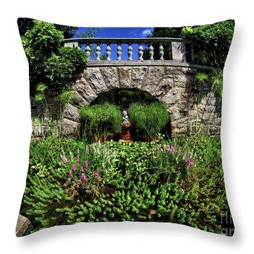 Throw Pillow featuring the photograph Garden Pond by Mark Miller