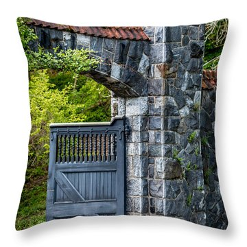 Garden Portal Throw Pillow